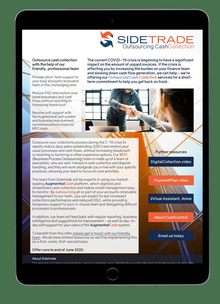Outsourcing CashCollection datasheet